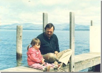 WITH HER FATHER DAN